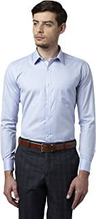 Park Avenue Blue Slim Fit Cotton Blend Shirt