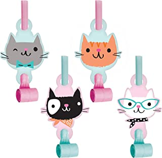 Cat Party Blowers, 24 ct
