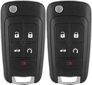 ECCPP Keyless Entry Remote Folding Key Fob Shell Case Replacement Compatible with GMC Terrain, Buick Allure Lacrosse Regal Verano Encore, Chevy Camaro Cruze Malibu Equinox Sonic Impala OHT01060512