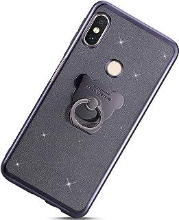 Urhause Kompatibel med Xiaomi Redmi Note 6 Pro, ultra slim soft bling glitter skyddsöverdrag TPU silikon bakskydd mobiltel...