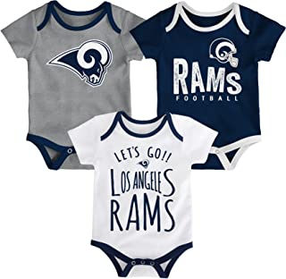 Clothing, Shoes & Accessories Outerstuff Nfl Infant Girls Los Angeles Rams Assorted 3 Pack Creeper Set