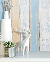 16.4'x1.5' Wood Wallpaper Stick and Peel Self Adhesive Wallpaper Wood Peel and Stick Wallpaper Wood Grain Plank Decorative Reclaimed Rustic Distressed Wood Wallpaper Removable Wallpaper Roll Vinyl