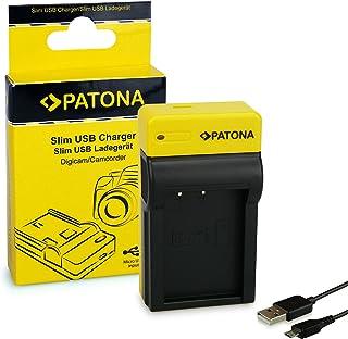 PATONA Estrecho Cargador de Batería para Canon LP-E17 EOS 750D 760D 8000D Rebel | 8.4 V/500 mA | Micro-USB Cable