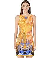 Versace Collection - Short Printed Sheath Dress