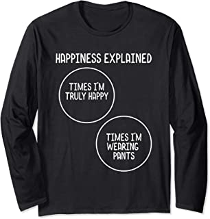 Funny Venn Diagram for No Pants Crowd, Nudists and Naturists Long Sleeve T-Shirt