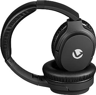 Volkano Rhapsody - Auriculares inalámbricos Bluetooth con cancelación de ruido activa, sonido estéreo de 8 horas de reproducción, ajustables, llamadas manos libres Audífonos Inalámbricosa, viajes, trabajo, oficina, color negro
