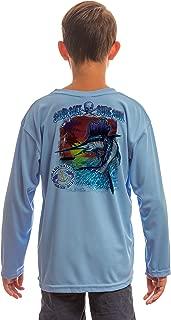 Saltwater Fish Sailfish Youth UPF 50+ UV Sun Protection Performance Long Sleeve T-Shirt