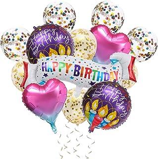 誕生日飾り付け、誕生日 バルーン、誕生日 風船、Happy Birthday バルーン、複数のスタイルの誕生日装飾セット男の子と女の子に適しています