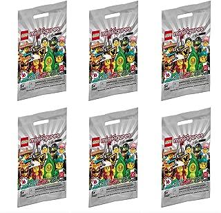 Lego Minifigure Series 20 - New Sealed Blind Bags - Random Set of 6 New 2020 Mini Figures (71027)