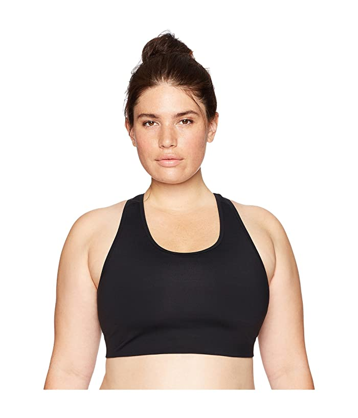 Core 10 Icon Series The Track Star Plus Size Sports Bra (Black/Grey/White) Women