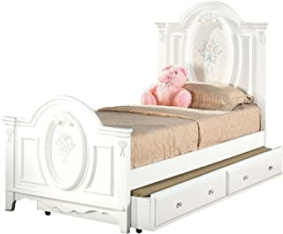 ACME 01680T Flora Panel Bed, Twin, White Finish