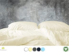 500-Thread-Count Organic Cotton Duvet Cover – 500TC King & California King Size Natural Color – For Bedding - 100% GOTS Certified Extra Long Staple, Soft Sateen Weave Finish - Luxury Collection