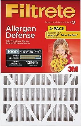Filtrete 20x25x4, AC Furnace Air Filter, MPR 1000 DP, Micro Allergen Defense Deep Pleat, 2-Pack