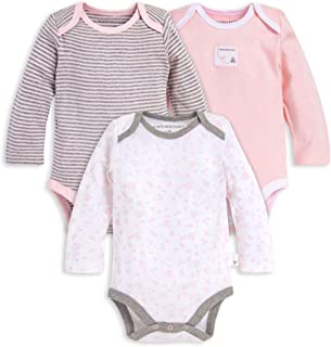 Burt's Bees Baby Unisex Baby Bodysuits, 3-Pack Long & Short-Sleeve One-Pieces, 100% Organic Cotton