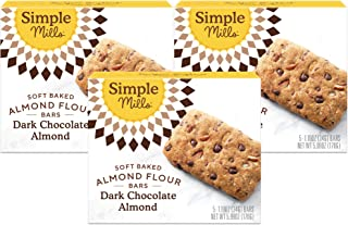 Simple Mills Almond Flour Snack Bars (Dark Chocolate Almond), Organic Coconut Oil, Chia Seeds, Sunflower Se...