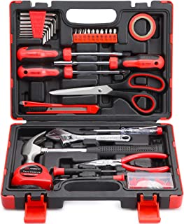 M MEEPO Tool Set, 131-Piece Basic Tool Kit for Men Women Home and Household Repair, Complete Home...