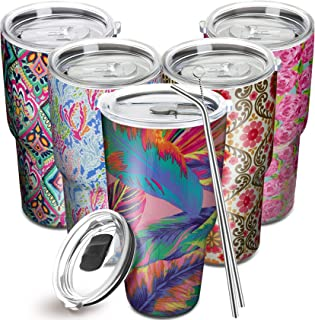 JLuck 30oz Tumbler with 2 Lid (MagSlider and Straw or Closing) and 2 Stainless Steel Straw, Stainless Steel Travel Mug, Do...