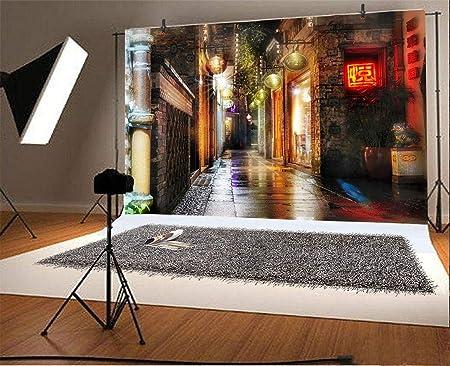 Yeele 5x4ft Cartoon Town Backdrop for Photography Night Moonlight Background Kids Children Photo Booth Shoot Vinyl Studio Props