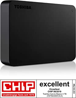 TOSHIBA HDTB440EK3CA Canvio Basics - Disco rigido Esterno Portatile, USB 3.0, Nero, 4 TB