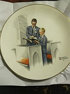 Spring in his spirit Norman Rockwell Plate