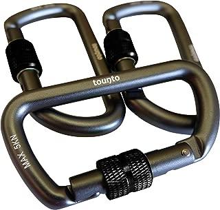 tounto 3 Pack D Ring Locking Carabiner Aluminum Small