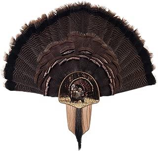 Walnut Hollow Country Turkey Fan Mount & Display Kit, Oak with Strutting Turkey Image