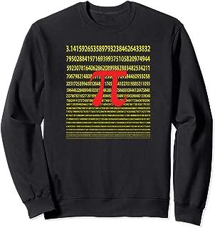 The Infinite Number Pi Artsy Geek Math Lovers Sweatshirt