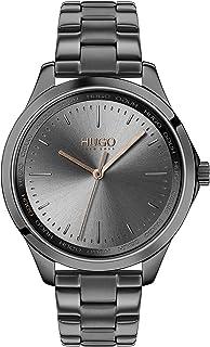 Hugo Boss Women'S Grey Dial Ionic Plated Grey Steel Watch - 1540042
