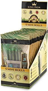 King Palm Hand Rolled Leaf Wrap Rolls - 5 Rolls/Pouch - 15 Pouch Display Box - (Mini)