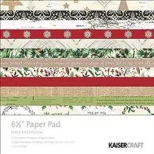Kaisercraft Paper Pad 6.5x6.5 40/Pkg-Home For Christmas
