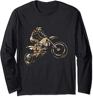 Motorcross Dirt Bike Racing Camo Camouflage Motorcycle Rider Long Sleeve T-Shirt