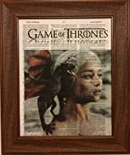 Game of Thrones Movie Series Dictionary Book Page Artwork Print Picture Poster Home Office Bedroom Kitchen Wall Decor - unframed