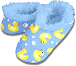 Snoozies! Duckies Women's Dip Dyed Sherpa Footcoverings - Extra Large Blue Lining Duckies