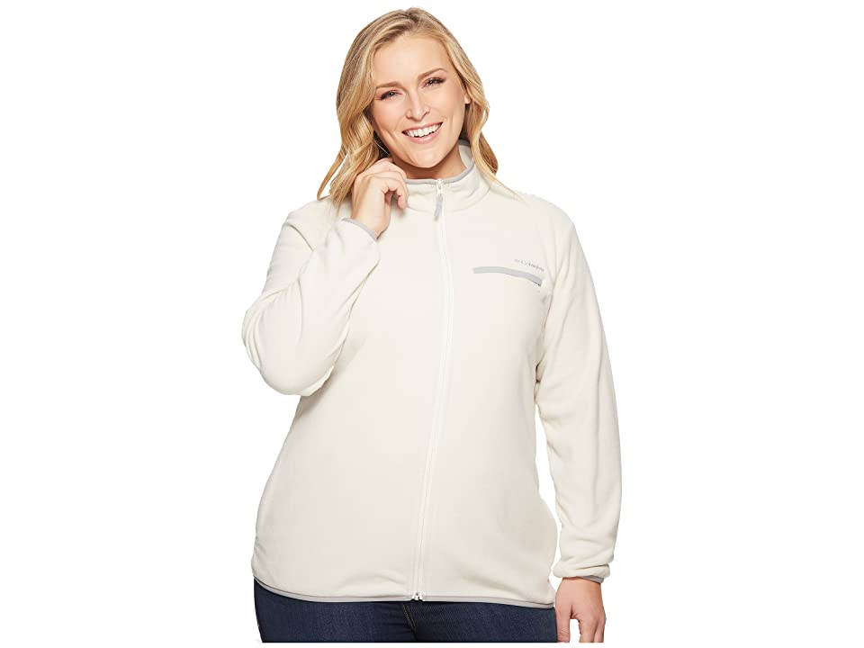 Columbia Plus Size Mountain Crest Full Zip (Chalk/Columbia Grey) Women