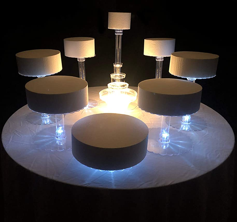 Wedding Cake Stand Eight Tier With LED Lights (Without Fountain)