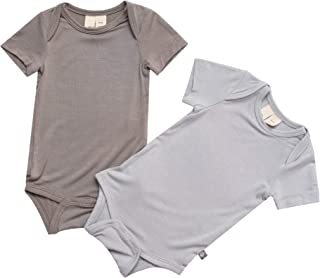 Bodysuit – Unisex Bodysuits - Short Sleeve Baby Bodysuits Made from Organic Bamboo Rayon Material 2-Pack
