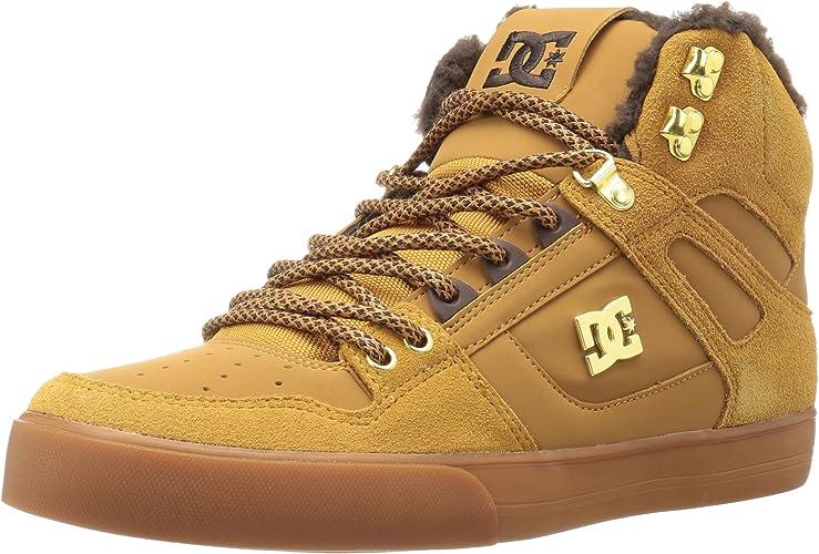 DC chaussures Spartan High Wc, paniers mode homme, Wheat Dark Chocolate, 40.5 EU
