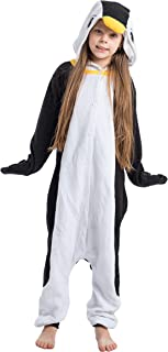Unisex Child Pajama Plush Onesie One Piece Penguin Animal Costume