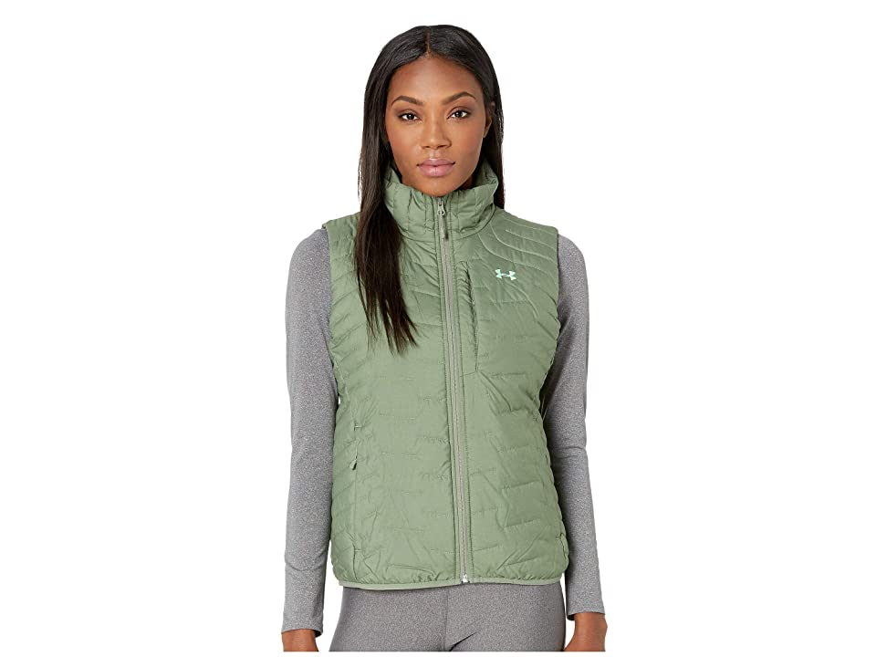 Under Armour UA ColdGear Reactor Vest (Moss Green/Moss Green/Green Typhoon) Women