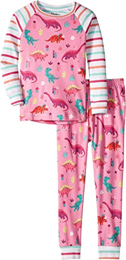 Darling Dinos Organic Cotton Raglan Pajama Set (Toddler/Little Kids/Big Kids)