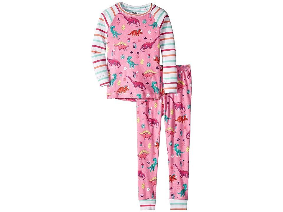 Hatley Kids - Hatley Kids Darling Dinos Organic Cotton Raglan Pajama Set