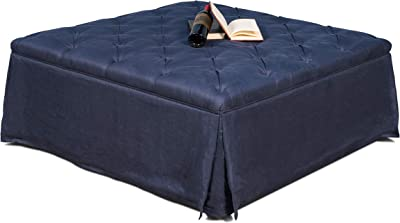 Amazon Com Big Joe Lux Cube Amp Ottoman In Union Pecan