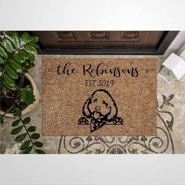 Cockapoo Dog Coir Doormat Rustic Door Ou for sale Max 52% OFF Indoor Mats Welcome
