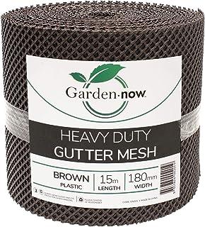 Garden Now Heavy Duty Plastic Gutter Mesh, 180 mm Height x 15 m Length, Brown