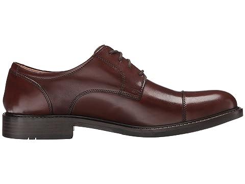 Dress Cap Johnston Calfskin Black CalfskinBrown Tabor Murphy Toe amp; Oxford qww1tZSH