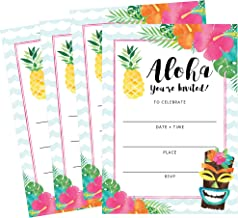 luau photo invitations