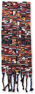 Mayan Arts Colorful Graduation Belts, Brown Earth Tones, Traditional Guatemalan Handmade/Hatband, Wrap Around self tie, (Set of 3) 1