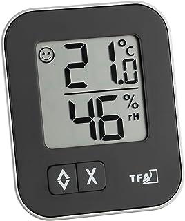 TFA Dostmann Moxx 30.5026.01 - Termómetro e higrómetro Digital, Negro, 1er Pack