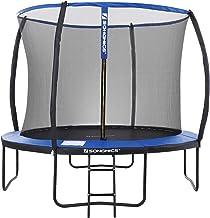 SONGMICS trampoline Ø 366 cm, ronde tuintrampoline met veiligheidsnet, met ladder en gewatteerde spijlen, veiligheidsafdek...
