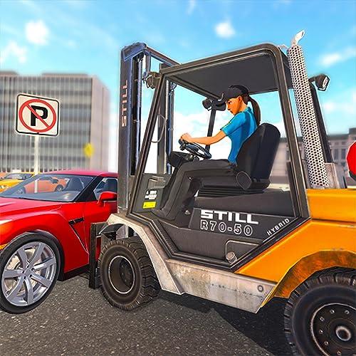 Real City Police Forklift Car Parking Challenge 3D
